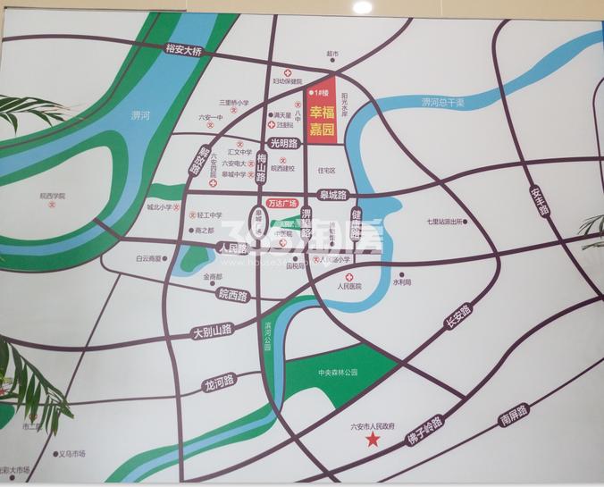 幸福嘉园交通图