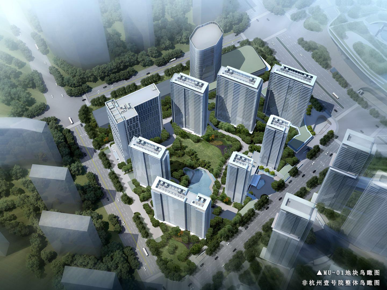 信达中心|杭州壹号院杭州壹号院鸟瞰图
