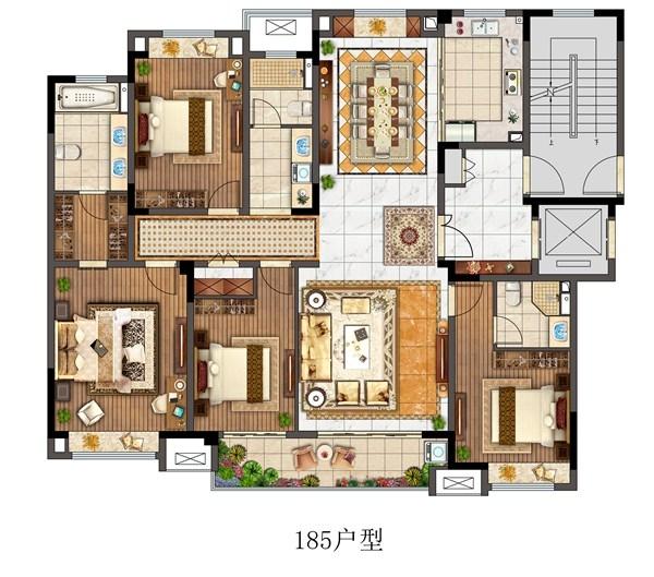 观澜别院洋房185平户型
