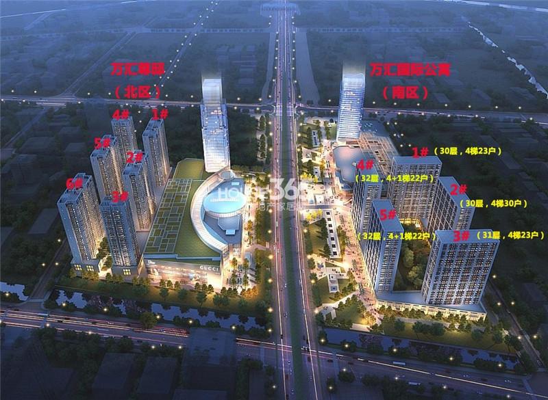 东方万汇城鸟瞰图