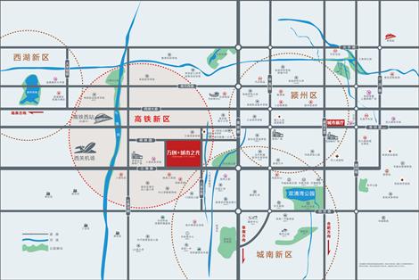 万创·城市之光交通图