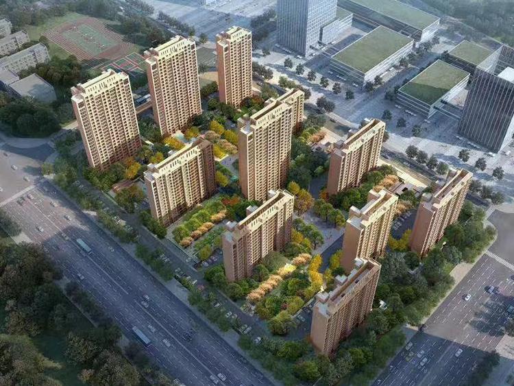 绿地·东北亚国博城8#地鸟瞰图
