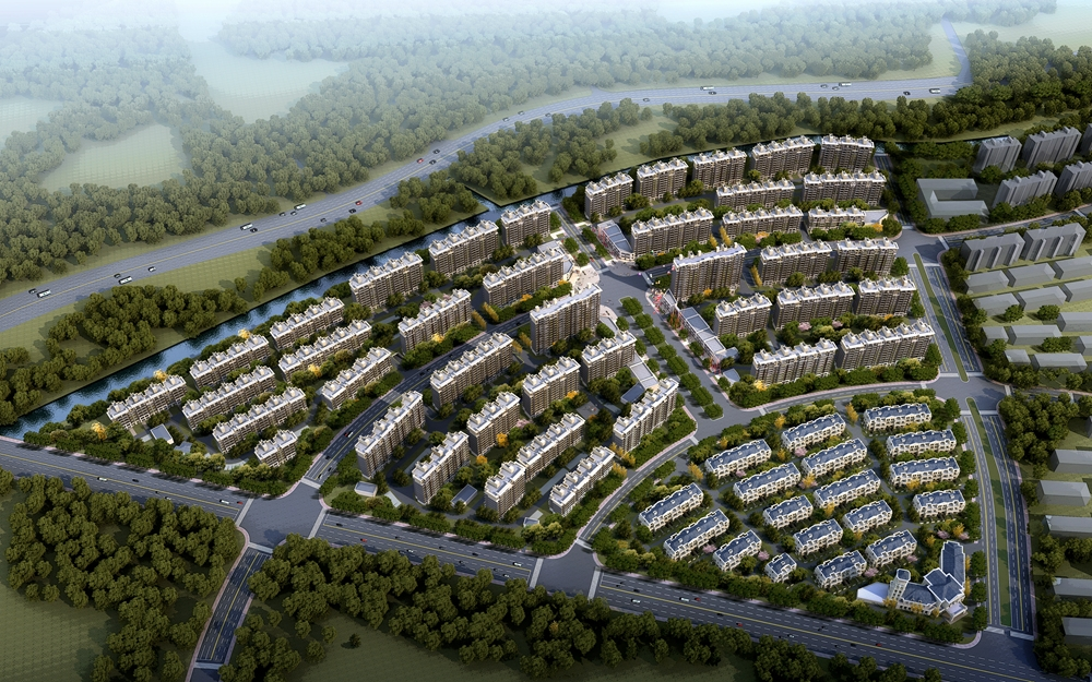 蠡湖国际小镇项目鸟瞰图
