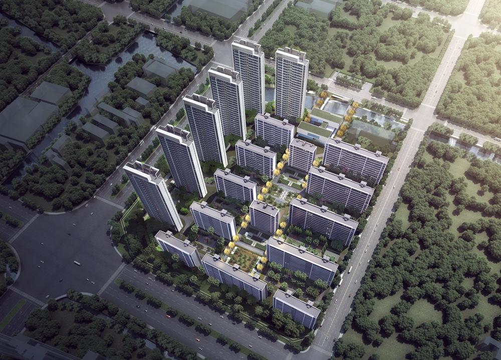 阳光城金科玖珑悦项目整体鸟瞰图