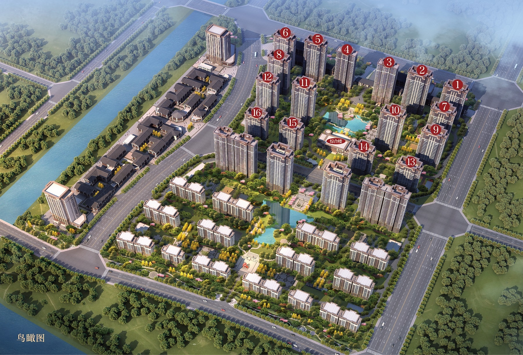 蚌埠恒大·悦澜湾项目鸟瞰图